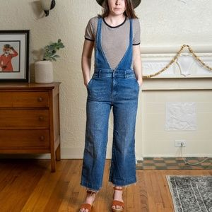 Free People Wide Leg Overalls